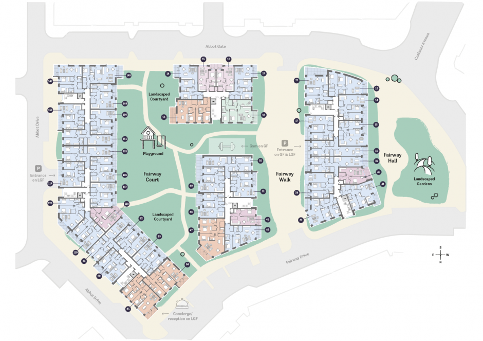 Occu Fairway Floorplan second floor layout
