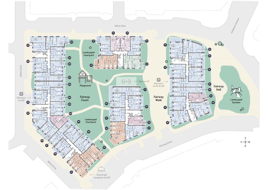 Occu Fairway Floorplan third floor layout