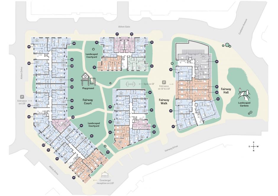 Occu Fairway Floorplan fourth floor layout
