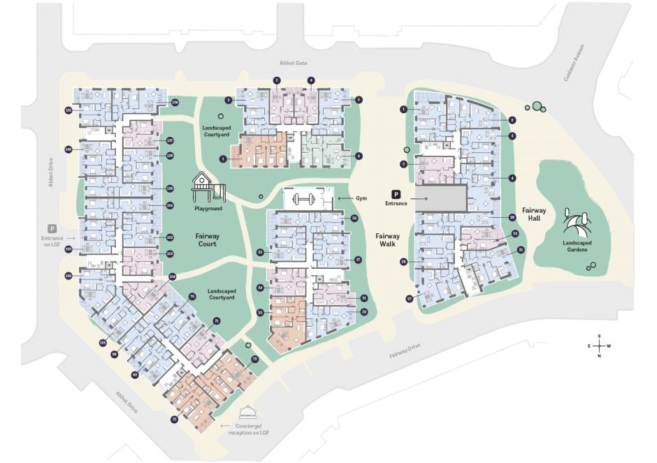 Occu Fairway Floorplan ground floor layout