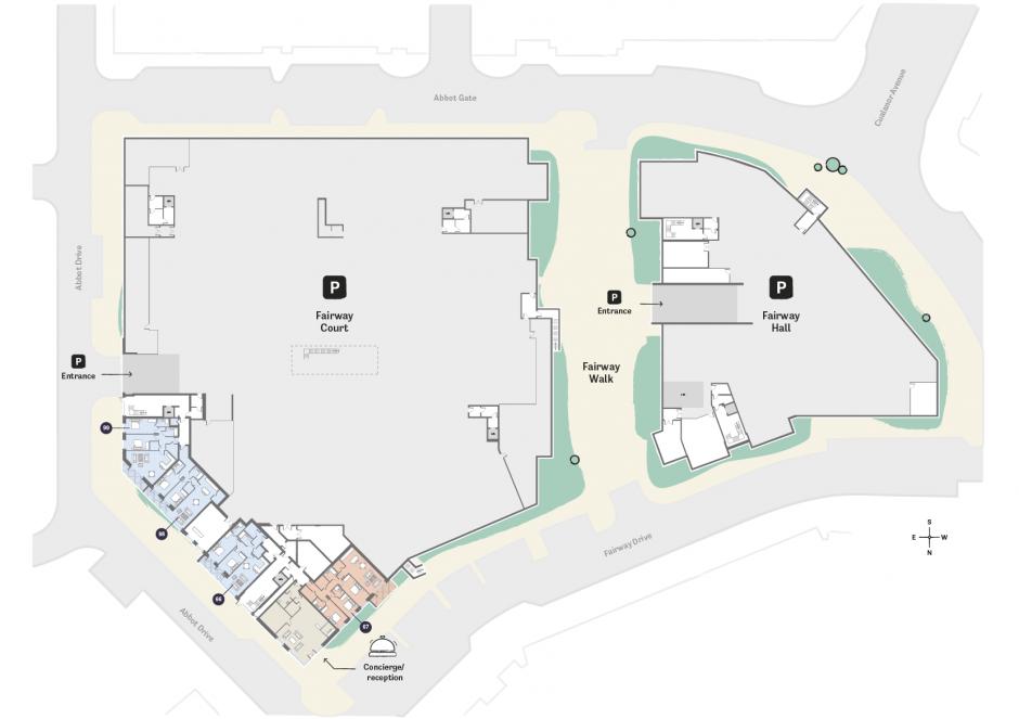 Occu Fairway Floorplan lower ground floor layout