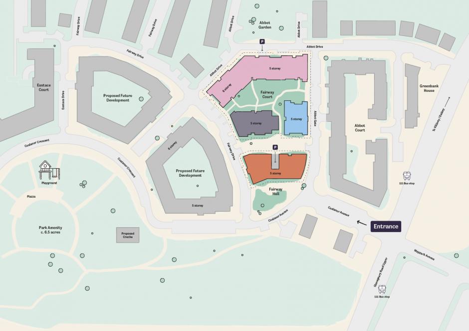 Occu Fairway site map overview